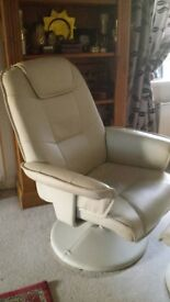 swivel recliner & footstool,