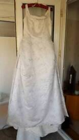Brand New, never worn White and Silver Wedding dress