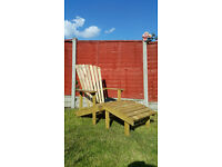Garden Chair and Footstool