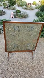 Beautifully embroidered vintage fire screen in good condition