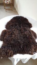 Beautiful long-haired sheepskin rug