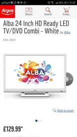 White 24 inch TV