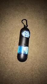 Dog bag holder/hand sanitizer
