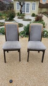 Pair of good quality upholstered chairs with sprung seats