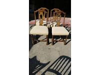 Very old dining chairs