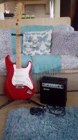 Electric guitar & stand&amp