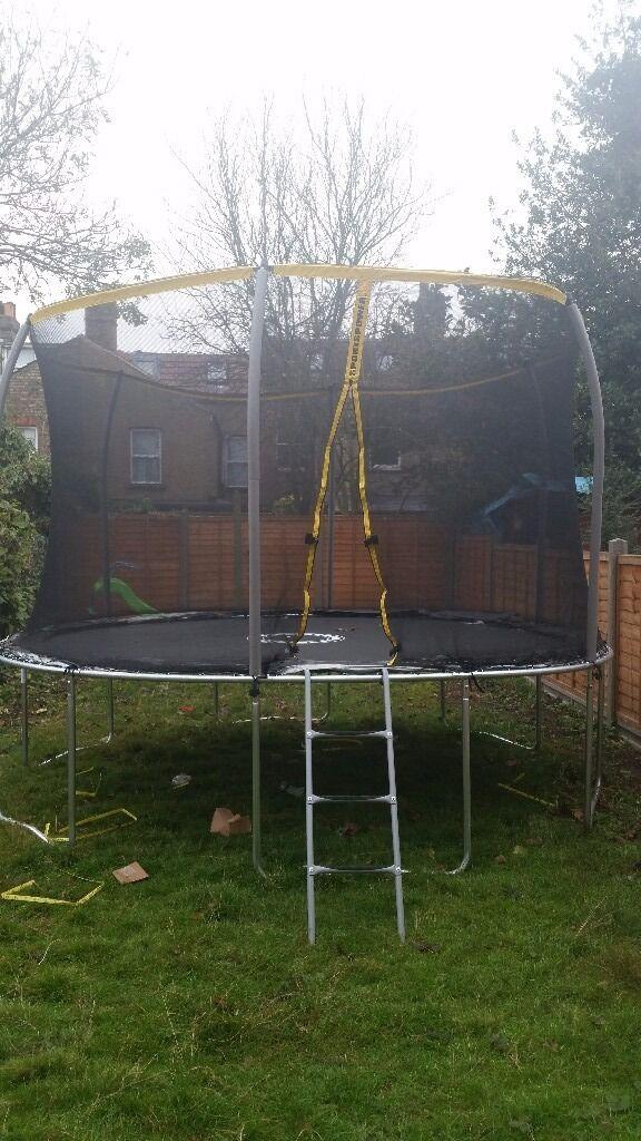 "Black silver 12"" trampoline"