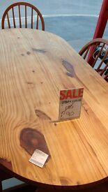 Wooden table shabby chic style