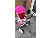 quinny moodd pink stroller