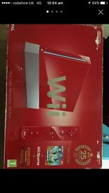 Nintendo wii (limited addition red)