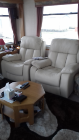 1 massage leather recliner manual