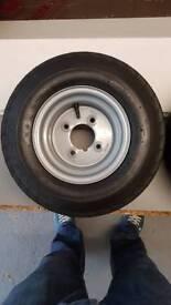 Jetski wide trailer wheels
