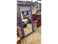 Big Mirror with Wood Frame