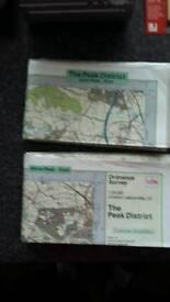 Laminated Peak District Maps
