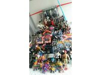 vintage toy collection for sale, star wars, power rangers, trolls, wrestling, hot wheels and more