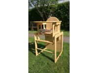 Baby Weavers wooden combination high chair