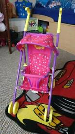 Peppa pig pushchair, swing and high chair