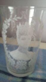 1902 coronation souvenir royal glass