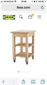 Ikea BEKVÄM kitchen trolley in birch