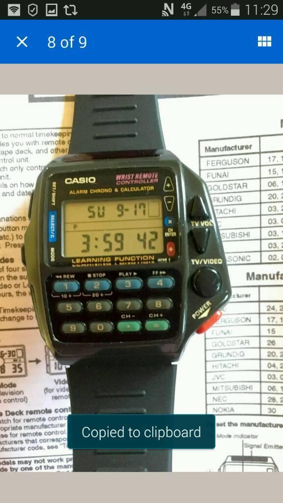 casio 1174 cmd-40 wrist remote controller watch