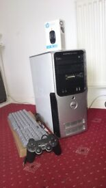 Dell Dimension 9200 Intel Quad Core 2.66 GHz X4 8 GB RAM Gaming PC with 388 Games (Quick sale £100)