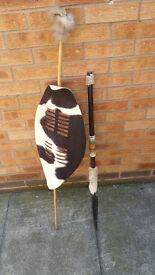 AFRICAN SHEILD AND SPEAR
