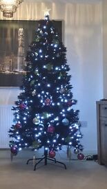 6.5ft black Christmas tree