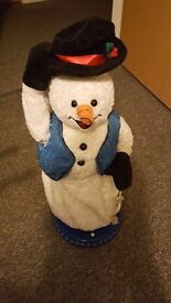Spinning snowflake snowman and santa (battery operated) christmas decorations....