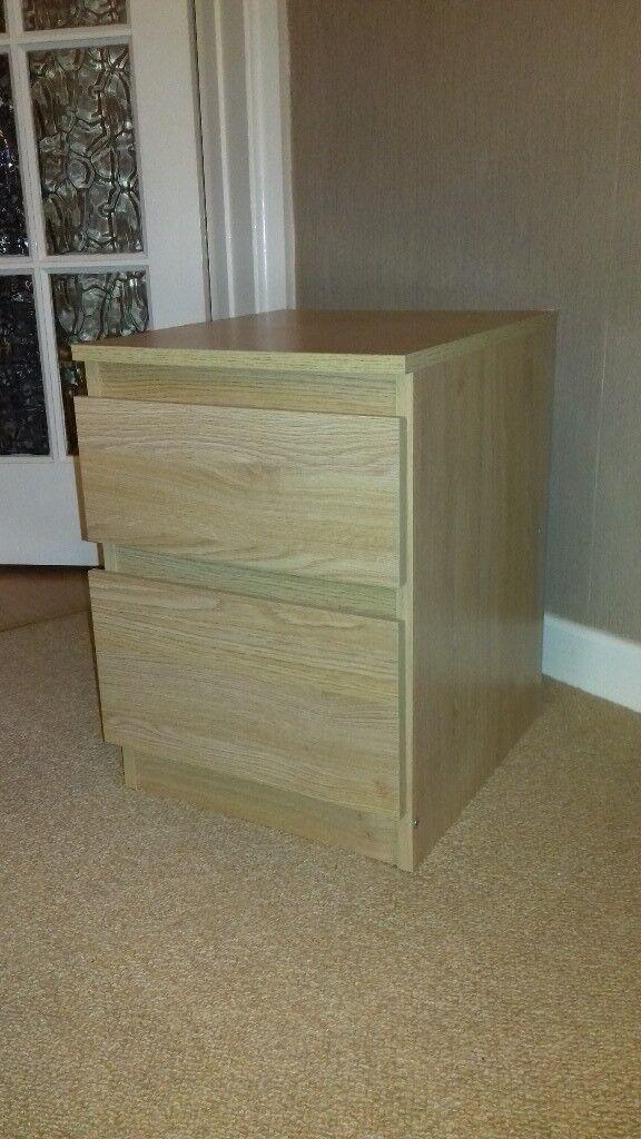 Ikea MALM 2 drawer bedside table