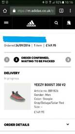 Adidas Yeezy Boost 350 V2 Beluga UK6 ***WITH RECEIPT & FREE P&P***