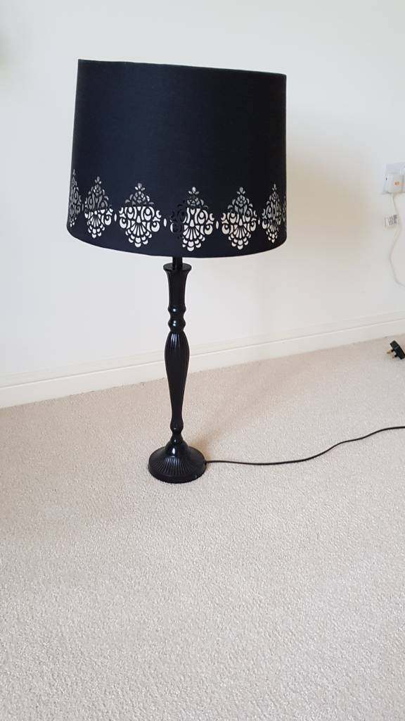 Lamp with black shade