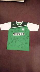 2011 / 2012 Signed Hibernian Hibs Football Shirt Top