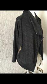 Ladies BNWOT Dark Grey Open Waterfall Cardigan