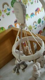 Once upon a time. Mamas & Papas . Cot Mobile. Swing light shade. Bedding Set