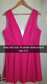 pink size 16 skater dress