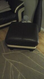 sofa with arm chair&footstall mint condition
