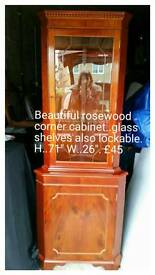 Beautiful rose wood corner unit