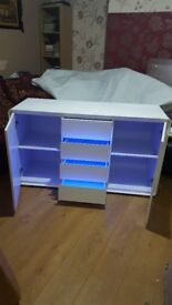 Brand new white sideboard with light £200