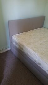 As new double bed with all most new mattress