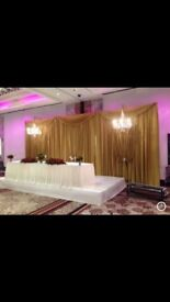 FOR SALE!!!Wedding backdrops , artificial flowers ,fabric crystals