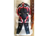 2 Piece Motorbike Leathers Medium