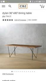 CB2 Modern Wood Dining Table