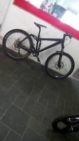 "Black Kona Coiler Downhill Bike, 26"" Wheels, 18"" Frame, 8 Speed"