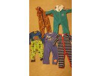 Boys pyjamas & onesie 12 to 18 months