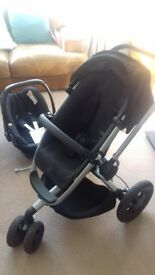 Quinny Buzz Xtra Pushchair and Maxi Cosi Car Seat