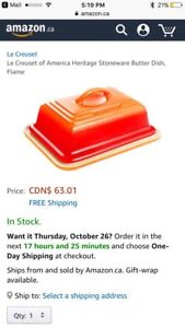 New le creuset of america heritage stoneware butter dish