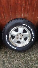 Bf goodrich tyres set of 4 vgc