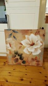 Barker and Stonehouse large canvas oil painting, designer label to rear