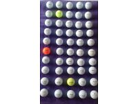 50 ONCE HIT LAKE GOLF BALLS MIXTURE OF TOP QUALITY BRANDS.