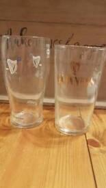 Pair Guinness pint glasses